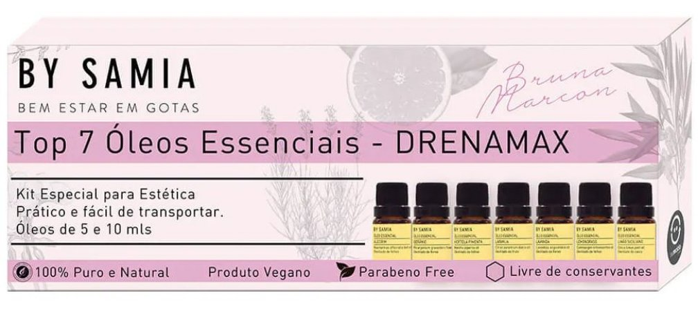By Samia Kit Drenamax - Top 7 Óleos Essenciais para Estética