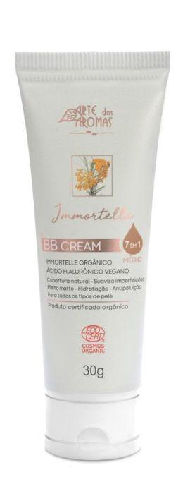 Arte dos Aromas BB Cream 7 em 1 com Immortelle e Ácido Hialurônico Orgânico - Cor Média 30g