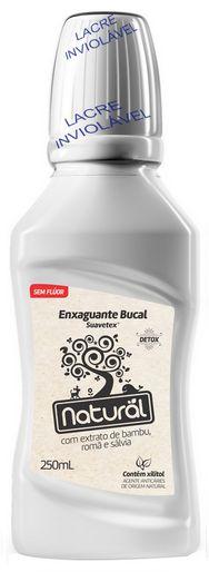 Suavetex Natural Enxaguante Bucal Detox com Bambu, Romã e Sálvia 250ml