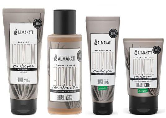 Almanati Kit Homem Shampoo + Tônico Capilar + Creme Facial + Pós-Barba