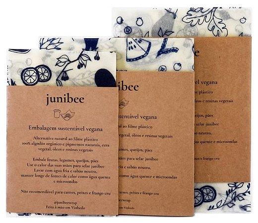 Junibee Embalagem Wrap Reutilizável Kit 3uns