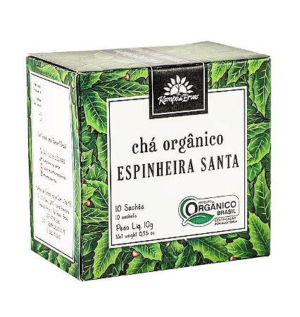 Kampo de Ervas Chá de Espinheira Santa Orgânico Caixa 10 Sachês