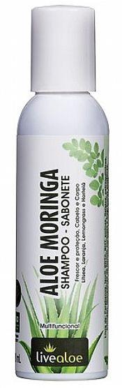 Livealoe Aloe Moringa Shampoo e Sabonete Líquido Multifuncional 120ml