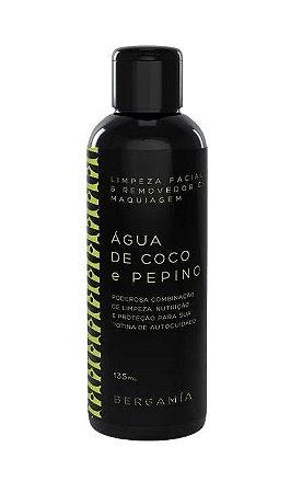 Bergamia Loção de Limpeza Facial e Demaquilante de Água de Coco e Pepino 135ml