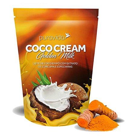 Puravida Coco Cream Golden Milk - Leite de Coco em Pó com Cúrcuma e Especiarias