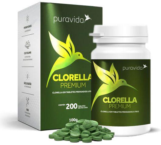 Puravida Clorella Premium 200 Tabletes Veganos