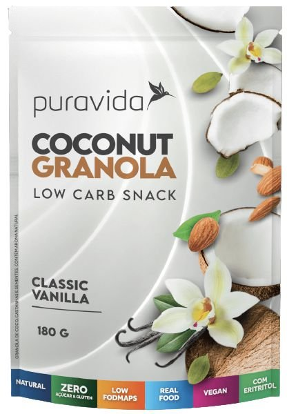 Puravida Coconut Granola Low Carb Classic Vanilla 180g