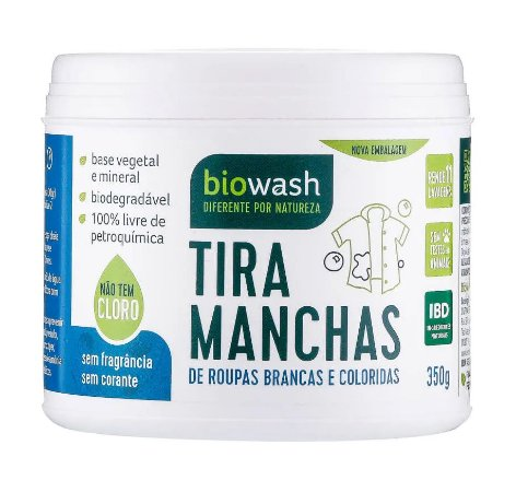 Biowash Tira Manchas em Pó Natural 350g