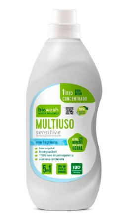 Biowash Multiuso Concentrado Natural Sensitive Sem Fragrância
