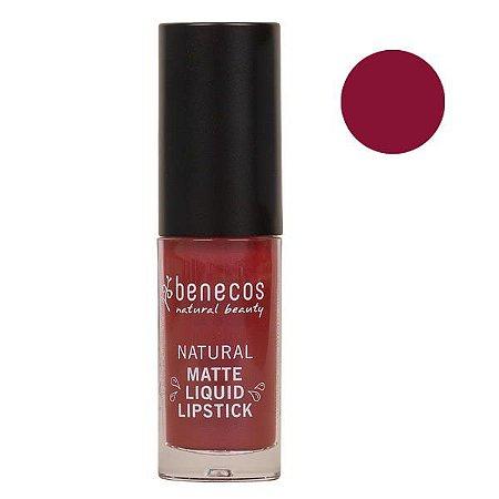 Benecos Batom Líquido Matte Liquid Lipstick Bloody Berry 5ml