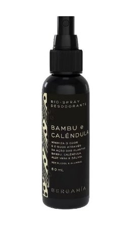 Bergamia Desodorante Bioativo em Spray de Bambu e Calêndula 60ml