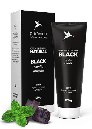 Puravida Creme Dental Natural Black - Carvão Ativado e Hortelã 120g