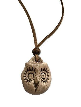 Colar Aromatizador Pessoal de Cerâmica Coruja 1un