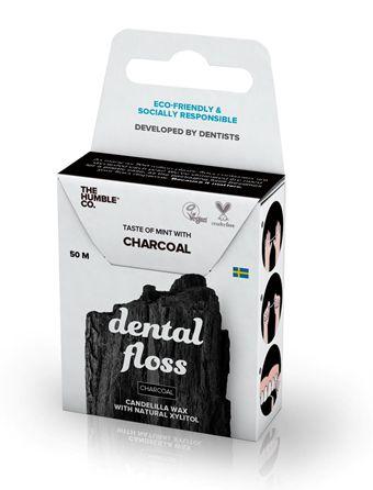 The Humble Co. Fio Dental Ecológico Menta e Carvão Ativado 50m