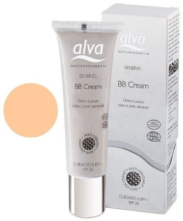BB Cream Orgânico Light Beige Sensitive FPS 20 - Multiuso 30ml - Alva