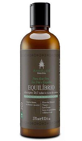 AhoAloe Shampoo 2x1 Equilíbrio Aloe Vera, Tea Tree e Copaíba 270ml