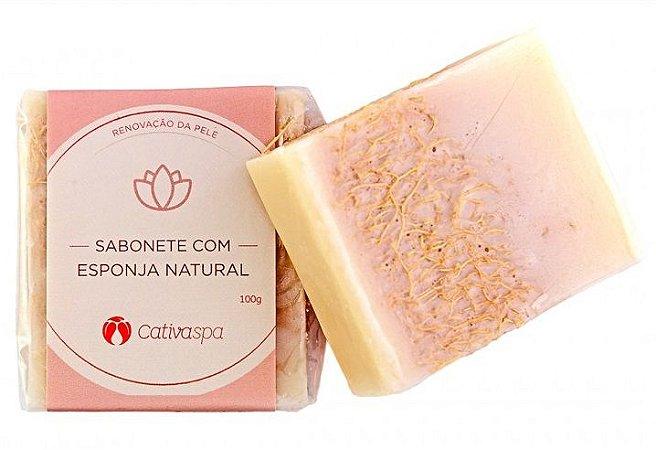 Cativa Natureza Cativa Spa Sabonete Esfoliante com Esponja Natural 100g