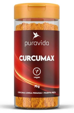Puravida Curcumax - Cúrcuma Longa Premium com Pimenta Preta 70g