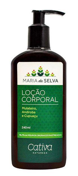 Cativa Natureza Maria da Selva Loção Hidratante Corporal 240ml