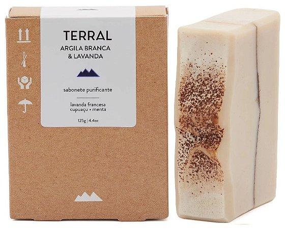 Terral Natural Sabonete Purificante Argila Branca e Lavanda 125g