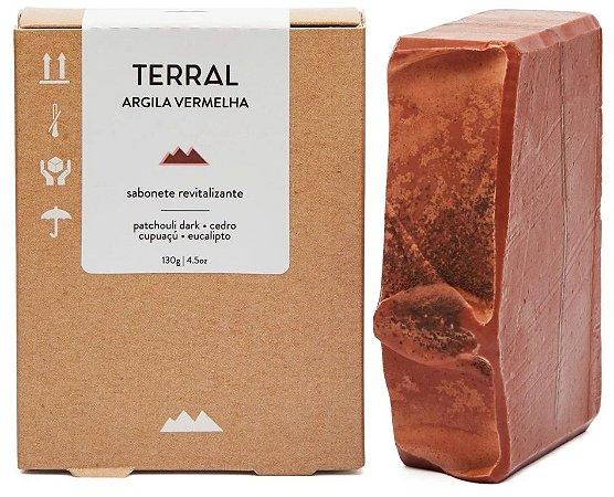 Terral Natural Sabonete Revitalizante Argila Vermelha e Patchouli Dark 130g