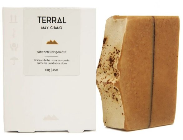 Terral Natural Sabonete Revigorante May Chang e Rosa Mosqueta 130g