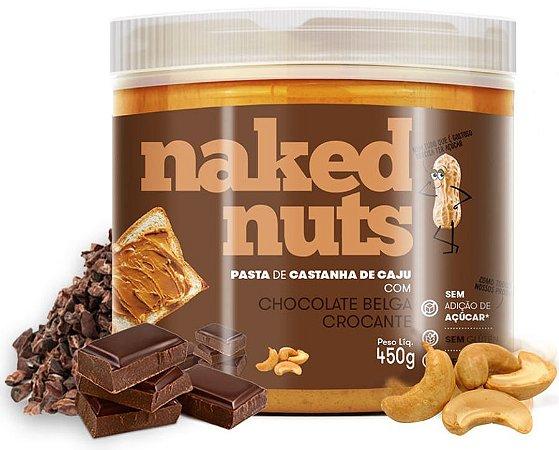 Naked Nuts Pasta de Castanha de Caju com Chocolate Belga Crocante