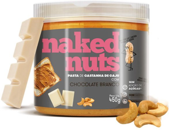 Naked Nuts Pasta de Castanha de Caju com Chocolate Branco