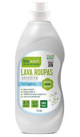 Biowash Lava Roupas Natural Sensitive Sem Fragrância 1L