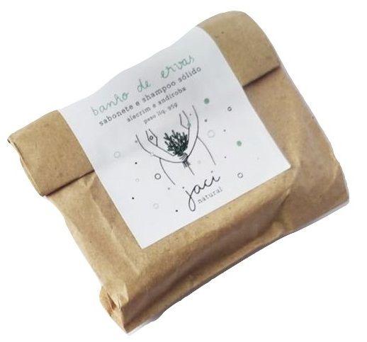 Jaci Natural Sabonete e Shampoo Sólido Banho de Ervas 95g