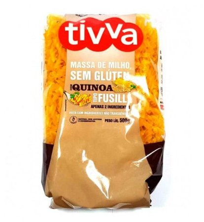 Tivva Macarrão Fusilli de Milho com Quinoa Sem Glúten 500g