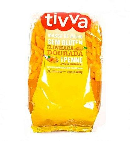 Tivva Macarrão Penne de Milho com Linhaça Sem Glúten 500g