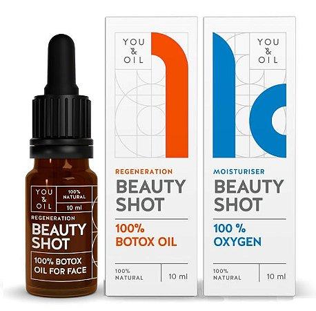 You & Oil KIT Beauty Shot Séruns Faciais N1 Botox Vegetal + N10 Desintoxicante com Oxigênio