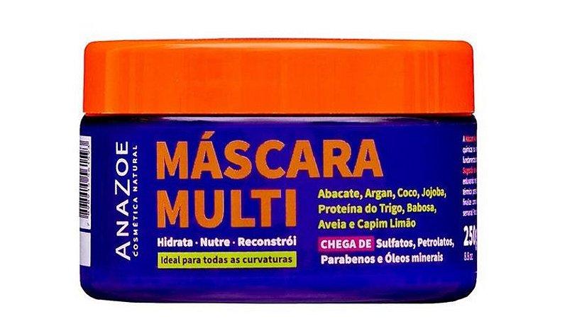 AnaZoe Máscara Capilar Multi HNR Abacate, Jojoba, Argan e Rícino 250g