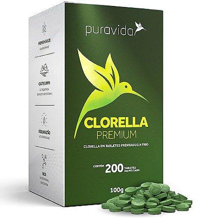 Puravida Clorella Premium em Tabletes Veganos