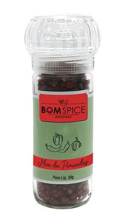 Bom Spice Mix de Pimentas Preta, Branca e Rosa 30g