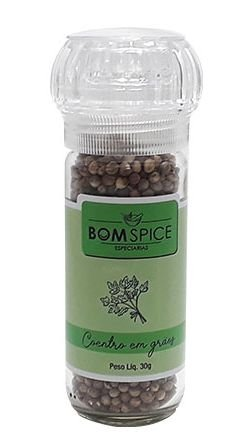 Bom Spice Coentro em Grãos Condimento Puro 30g