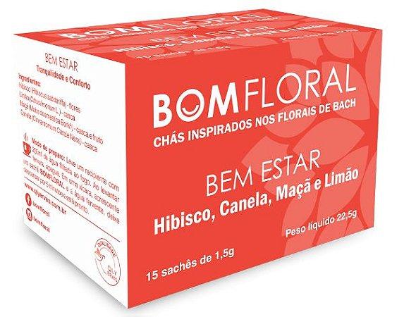 Bom Floral Chá Misto Bem Estar (Hibisco, Canela, Maçã e Limão) em Sachê