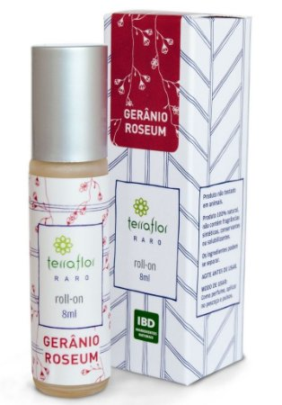 Roll-on Gerânio Roseum - Óleo Perfumado 8ml - Terra Flor