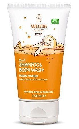 Weleda Kids 2 em 1 Shampoo e Sabonete de Laranja 150ml