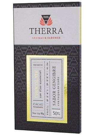 Therra Chocolate Gourmet 50% Sabor Gengibre com Limão Siciliano 80g