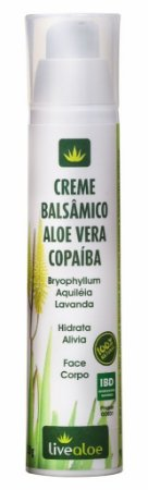Livealoe Creme Balsâmico Aloe Vera e Copaíba 50g