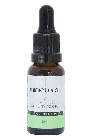 Miniatural Sérum Facial Pele Oleosa e Mista com Niacinamida, Pantenol e Algas Vermelhas 20ml