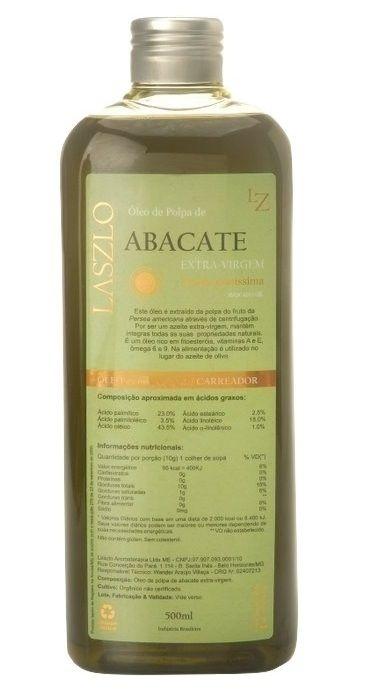 Laszlo Óleo de Abacate Extra Virgem 500ml