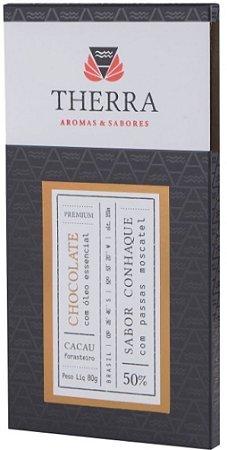 Therra Chocolate Gourmet 50% Sabor Conhaque com Passas Moscatel 80g