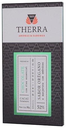 Therra Chocolate Gourmet 52% Sabor Orégano e Manjerona com Amêndoas 80g