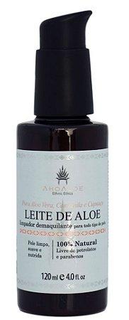 AhoAloe Limpador e Demaquilante Leite de Aloe 120ml