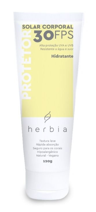 Herbia Protetor Solar Corporal Hidratante Natural e Vegano FPS 30 UVA/UVB 120g