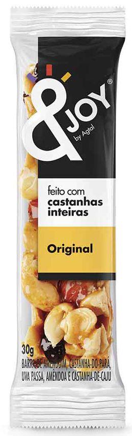 &Joy Barrinha Original Amendoim, Castanha de Caju, Castanha do Pará e Amêndoas