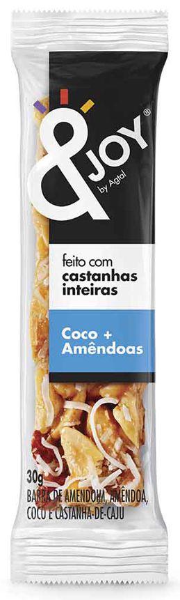 &Joy Barrinha Amendoim, Castanha de Caju, Castanha do Pará, Coco e Amêndoas